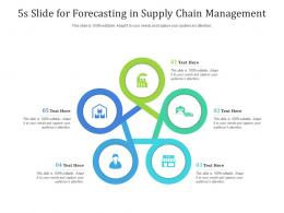 5s Slide For Forecasting In Supply Chain Management Infographic Template