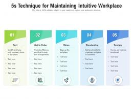 5s Technique For Maintaining Intuitive Workplace