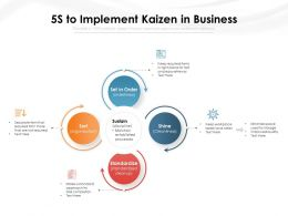 5S To Implement Kaizen In Business