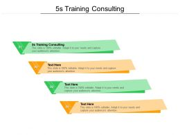 5s Training Consulting Ppt Powerpoint Presentation Ideas Cpb