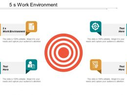 5s Work Environment Ppt Powerpoint Presentation Infographic Template Demonstration Cpb