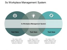 5s Workplace Management System Ppt Powerpoint Presentation Pictures Deck Cpb