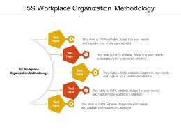 5S Workplace Organization Methodology Ppt Powerpoint Presentation Icon Cpb