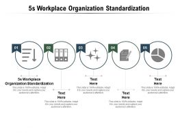5s Workplace Organization Standardization Ppt Powerpoint Presentation Slides Inspiration Cpb