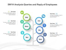 5w1h Analysis Queries And Reply Of Employees