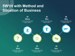 5w1h With Method And Situation Of Business