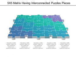 5x5 Matrix Having Interconnected Puzzles Pieces