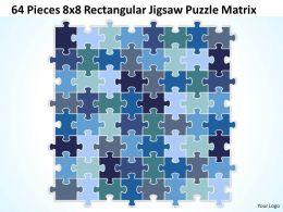 64 Pieces 8x8 Rectangular Jigsaw Puzzle Matrix Powerpoint templates 0812