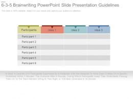 6 3 5 Brain Writing Powerpoint Slide Presentation Guidelines