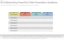 6 3 5 Brain Writing Powerpoint Slide Presentation Guidelines