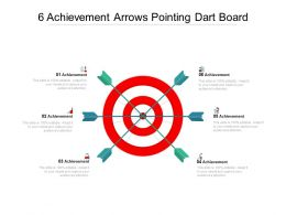 6 Achievement Arrows Pointing Dart Board