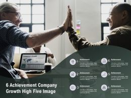 6 Achievement Company Growth High Five Image