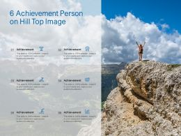 6 Achievement Person On Hill Top Image