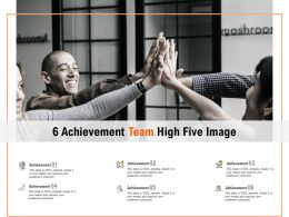 6 Achievement Team High Five Image