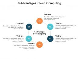 6 Advantages Cloud Computing Ppt Powerpoint Presentation Model Graphic Tips Cpb