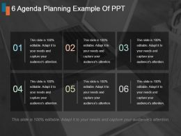 6 Agenda Planning Example Of Ppt