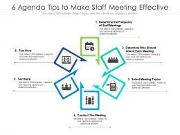 6 Agenda Tips To Make Staff Meeting Effective