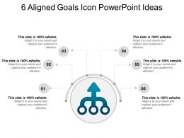 6 Aligned Goals Icon Powerpoint Ideas