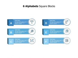 6 Alphabets Square Blocks