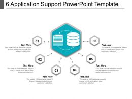 6 Application Support PowerPoint Template