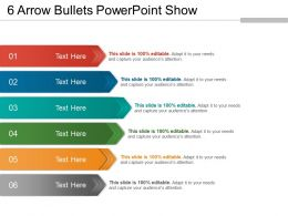 6 Arrow Bullets Powerpoint Show