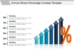 6 Arrow Shows Percentage Increase Powerpoint Templates