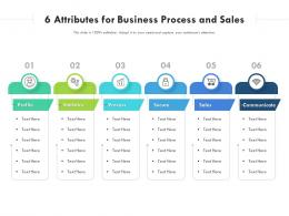 6 Attributes For Business Process And Sales