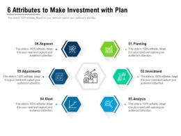 6 Attributes To Make Investment With Plan