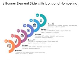 6 Banner Element Slide With Icons And Numbering