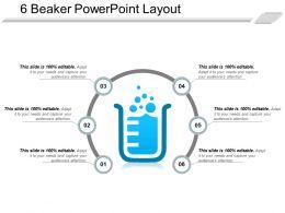 6 Beaker PowerPoint Layout