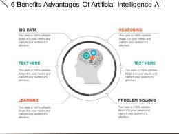 6 Benefits Advantages Of Artificial Intelligence Ai Powerpoint Shapes