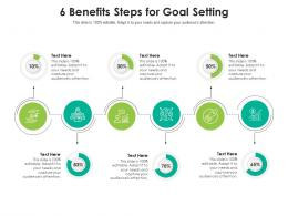 6 Benefits Steps For Goal Setting Infographic Template