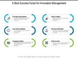 6 Best Success Factor For Innovation Management