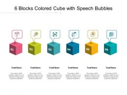 6 Blocks Colored Cube With Speech Bubbles