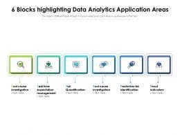 6 Blocks Highlighting Data Analytics Application Areas
