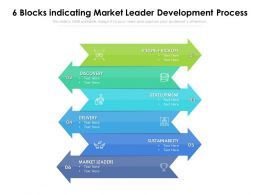 6 Blocks Indicating Market Leader Development Process