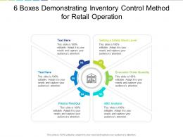 6 Boxes Demonstrating Inventory Control Method For Retail Operation