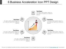 6 Business Acceleration Icon Ppt Design