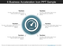 6 Business Acceleration Icon Ppt Sample