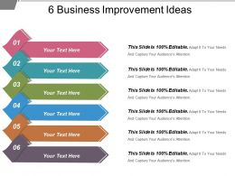 6 Business Improvement Ideas Powerpoint Presentation