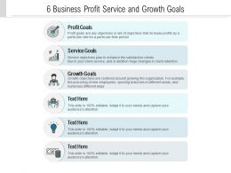 6 Business Profit Service And Growth Goals