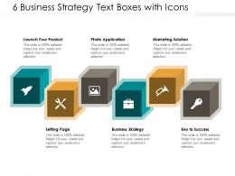 6 Business Strategy Text Boxes With Icons
