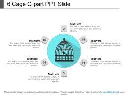6 Cage Clipart Ppt Slide