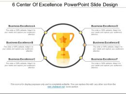 6 Center Of Excellence Powerpoint Slide Design