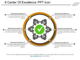 6 Center Of Excellence Ppt Icon