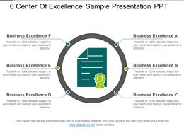 6 Center Of Excellence Sample Presentation Ppt