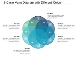 6 Circle Venn Diagram With Different Colour
