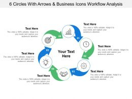 6_circles_with_arrows_and_business_icons_workflow_analysis_Slide01