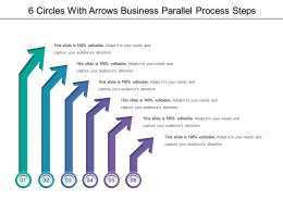 6 Circles With Arrows Business Parallel Process Steps