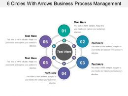 6 Circles With Arrows Business Process Management